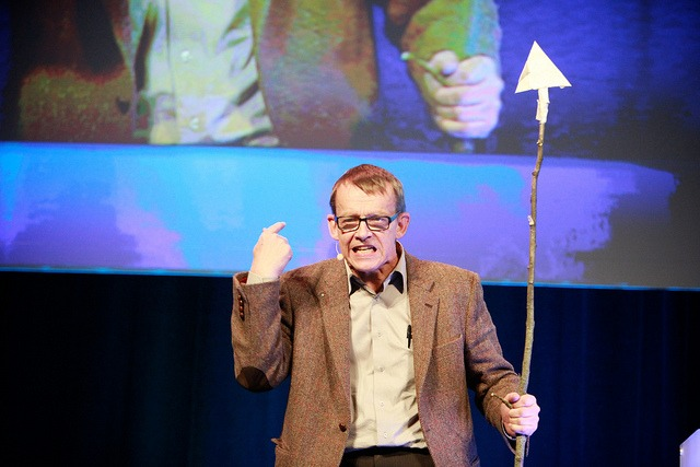 Hans Rosling giving a lecture