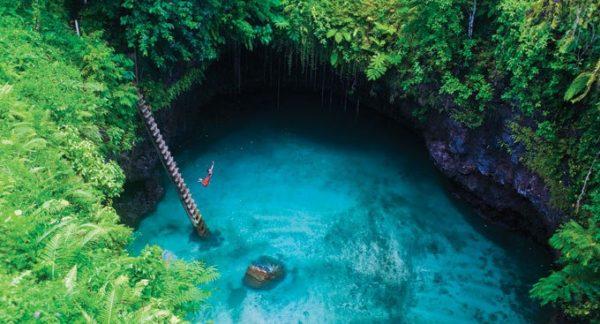 Samoa Sua Ocean Trench via Samoa tourism | Flickr