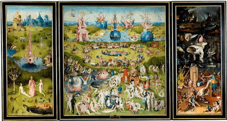 Hieronymus Bosch | The Garden of Earthly Delights, oil on oak panels |  Museo del Prado, Madrid | Wikipedia