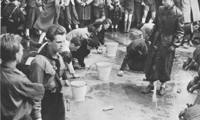 Many ordinary Germans looked away as Jews were publicly beaten and humiliated by Nazis