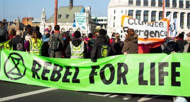 Extinction Rebellion has launched a global grassroots civil disobedience campaign to confront climate and ecological catastrophe