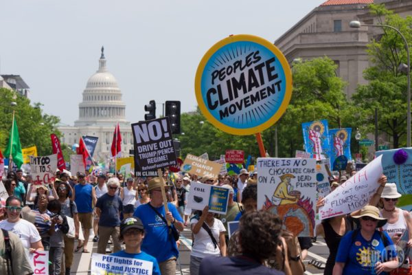 The climate march in DC, 2017
