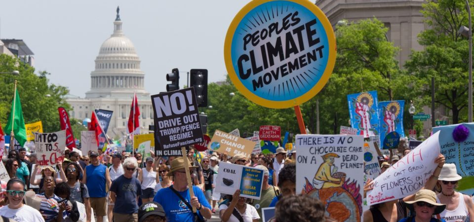 Theclimate march in DC, 2017