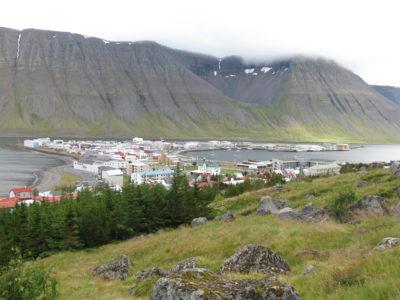 Ísafjörður from the hillside