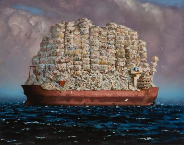 "MOBRO: High Seas Drifterby Scott Greene 2015, Oil on Canvas on Panel, 50""x64 