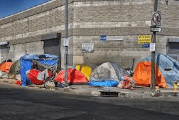 Figure 1. Picture of homeless tents in Los Angeles city
