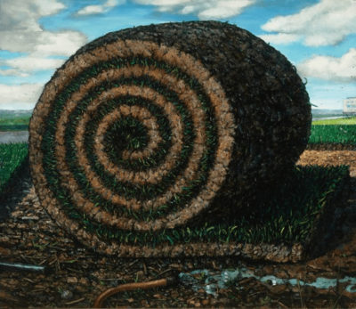 Chester Arnold, The Great Piece of Turf. 2008, Oil on Linen, 64 x 72 Catharine Clark Gallery, San Francisco