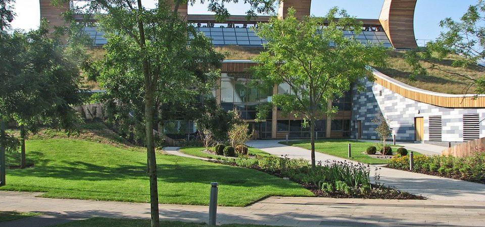 Nottingham University: the entrance to the Sustainable Chemistry Laboratory
