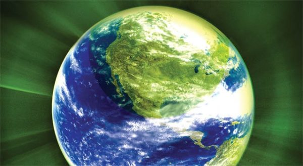 Artistic view of planet Earth
