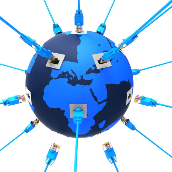 Worldwide Network Showing Globalization Computing And Planet