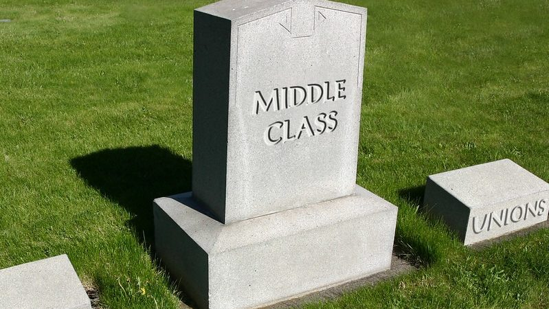 Gravestone with Middle Class on it