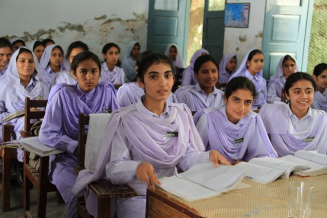 Girls in school, Pakistan