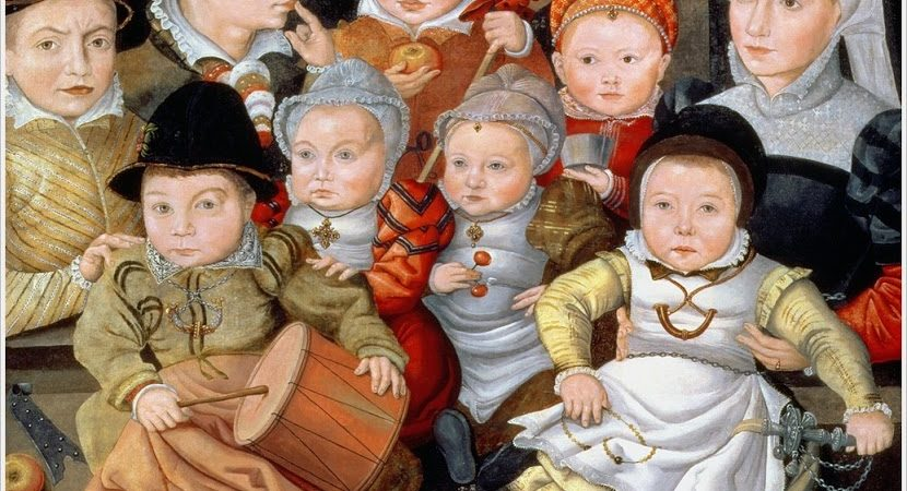 Foto of painting by Jacob_Seisenegger_Portrait of a mother with her eight children (1565)