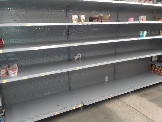 Walmart Empty Food Shelves