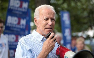 Joe Biden photo with loudspeakers