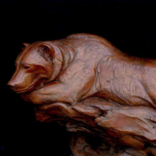 Kent Ullberg Sculpture Waiting for Sockeye