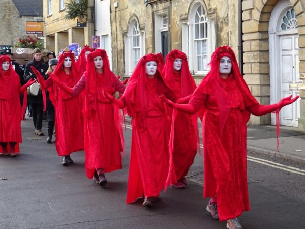 An Extinction Rebellion protest in Chipping Norton.