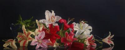 Jane Jones, Broken, 26 x 64 inches, 2020, oil on canvas,