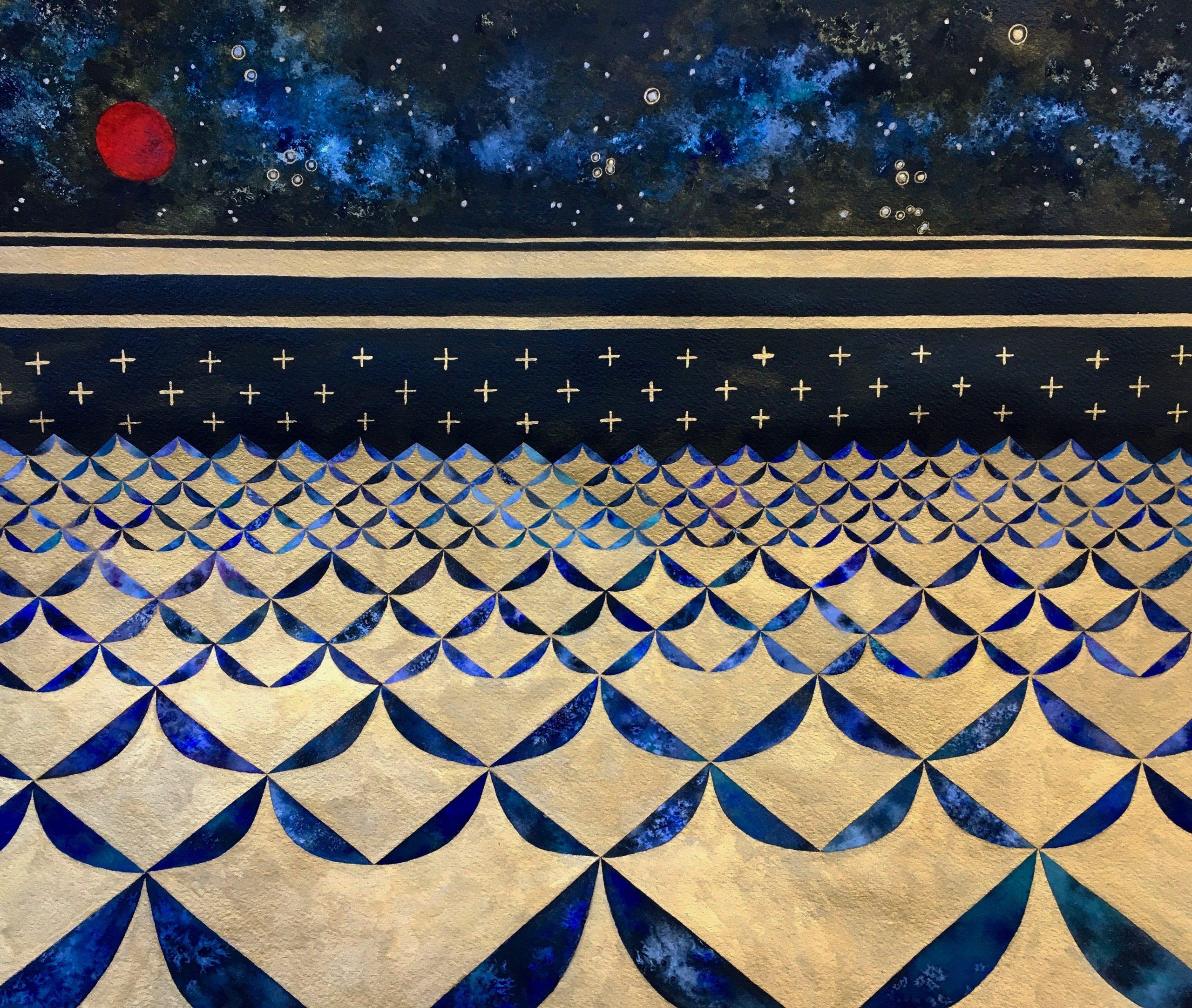Lehuauakea Kumulipo Painting (detail)