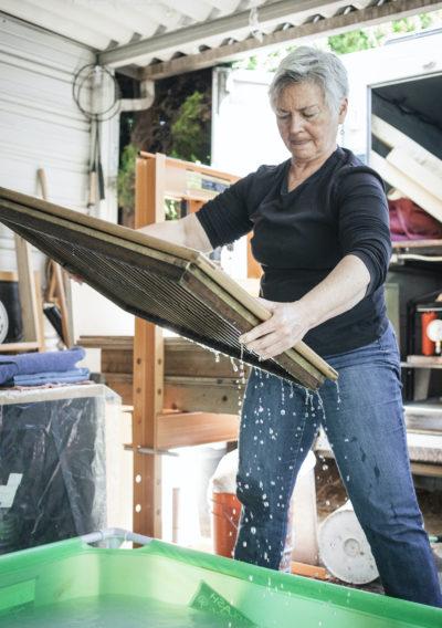 Brenda Mallory papermaking