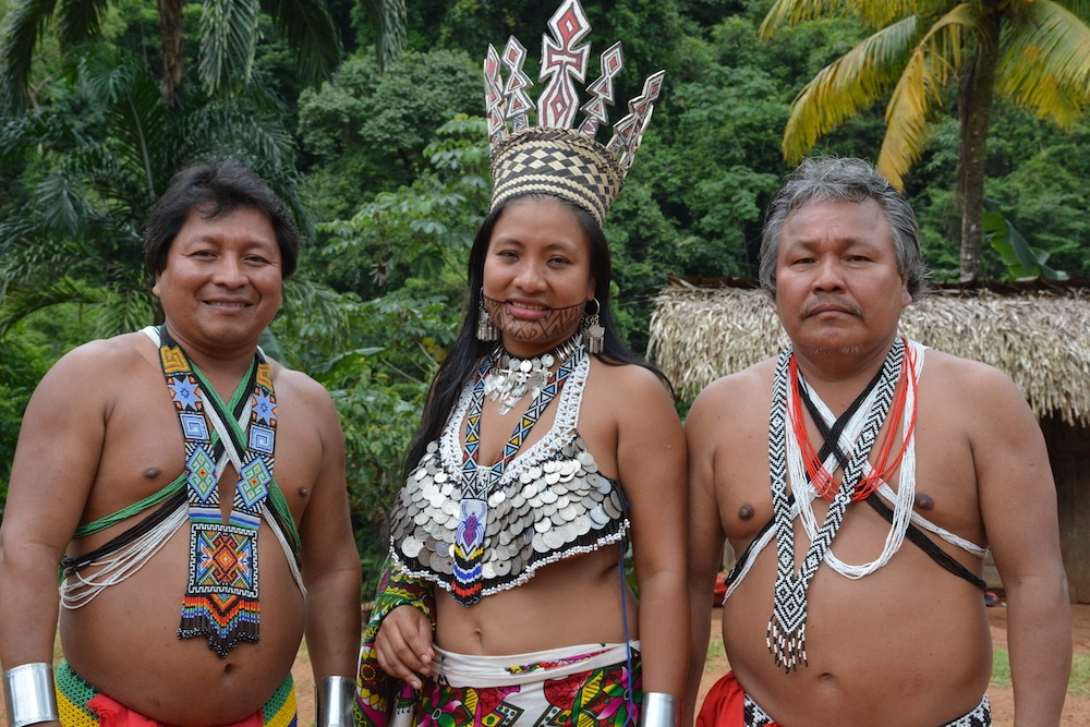 Embera authorities of Emberara Eju